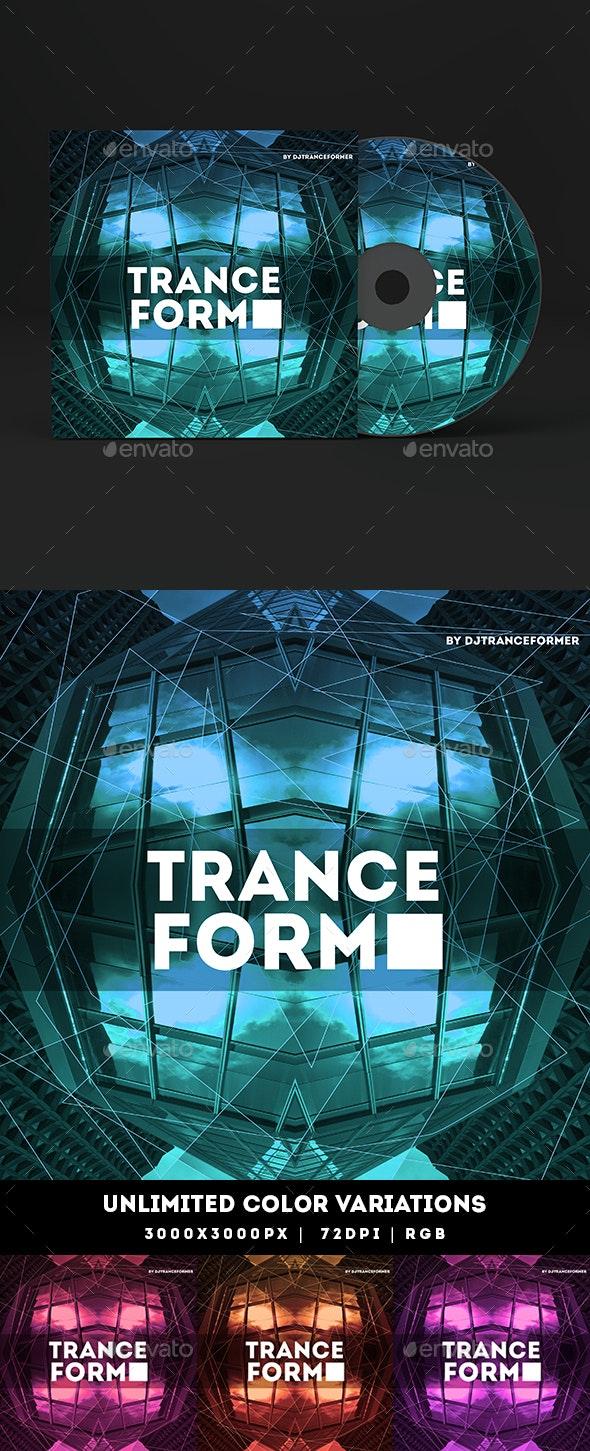 Trance Form Music Album Cover Artwork Template - Miscellaneous Social Media