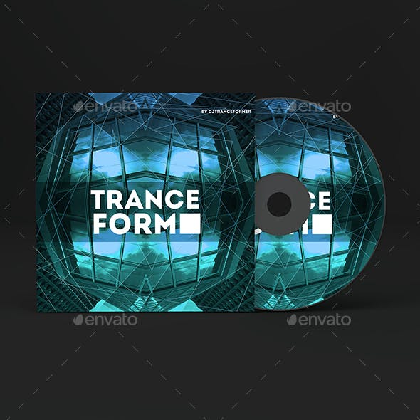Trance Form Music Album Cover Artwork Template