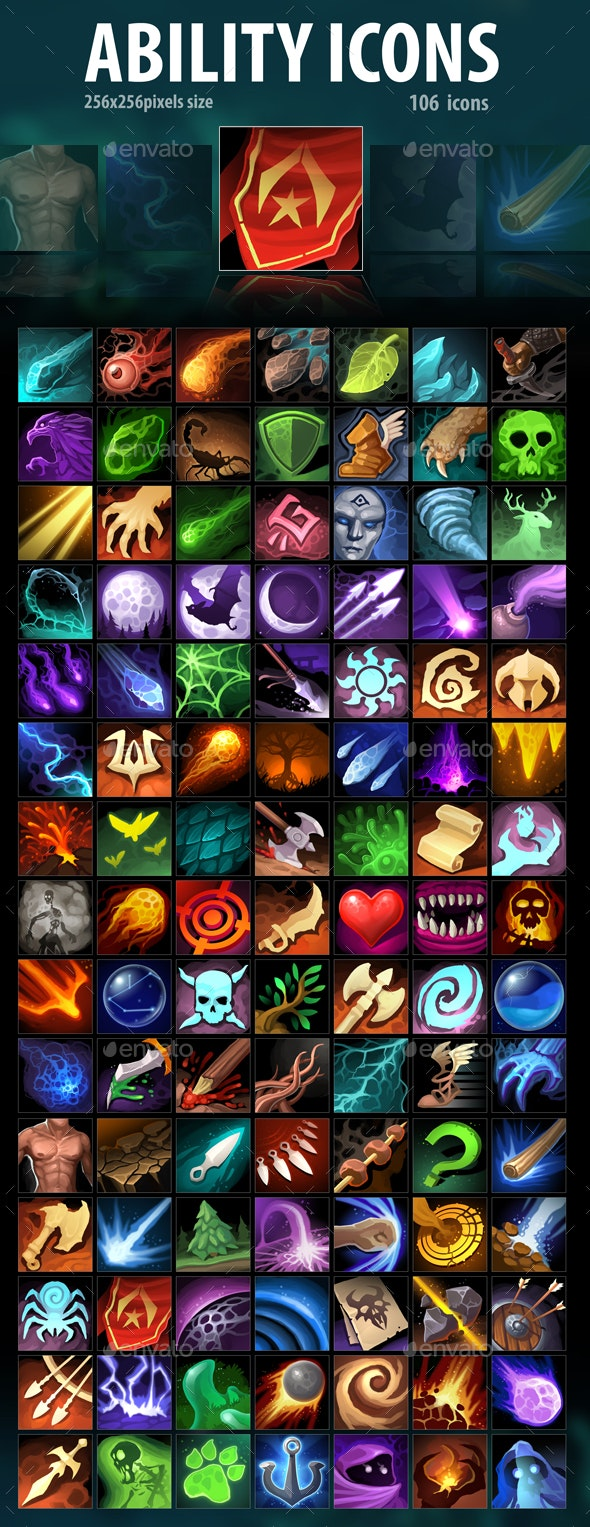 Ability Icons - Miscellaneous Game Assets