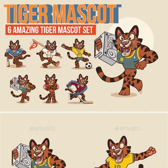 Tiger Mascot Set