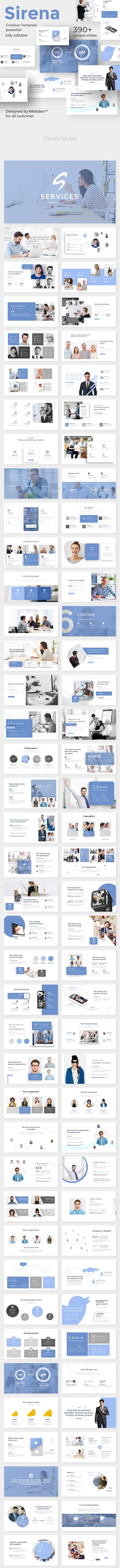 Services Concept Pitch Deck Keynote Template - Business Keynote Templates