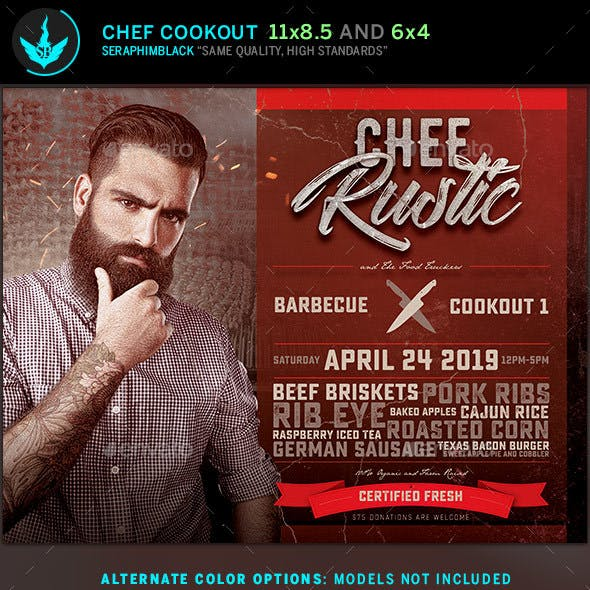 Chef Cookout Flyer Template