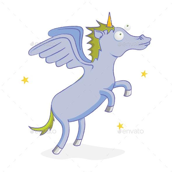 Flying Unicorn - Animals Characters