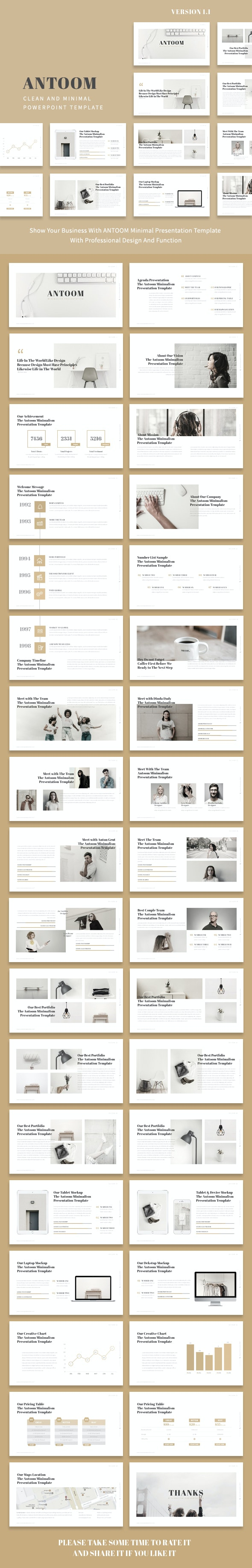Antoom - Minimal Powerpoint Presentation Template - Creative PowerPoint Templates