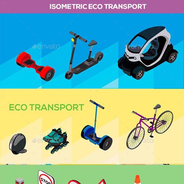 Isometric Eco Friendly Transports