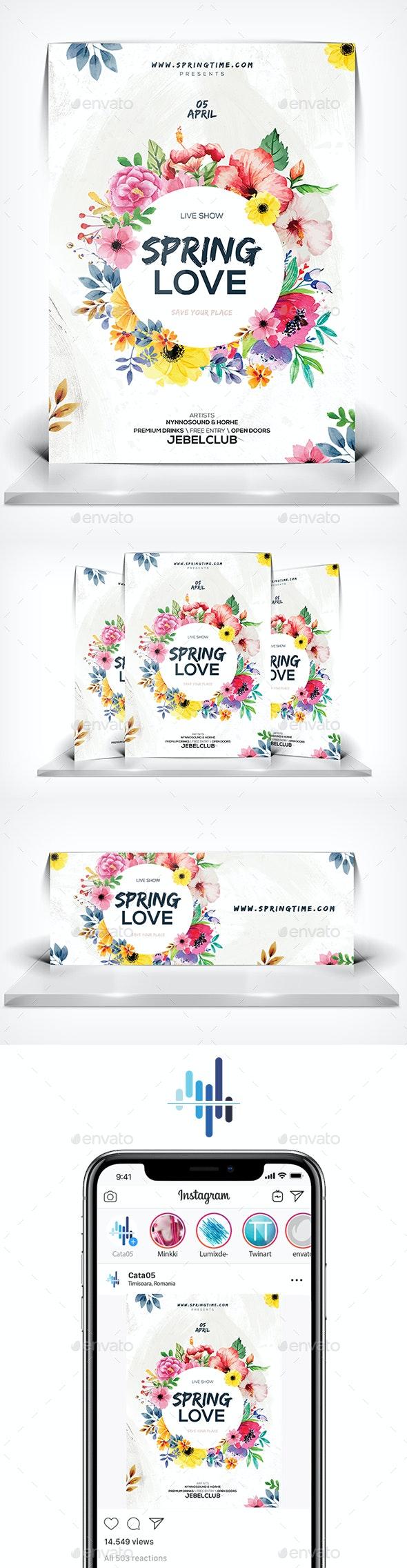 Spring Love Flyer - Flyers Print Templates