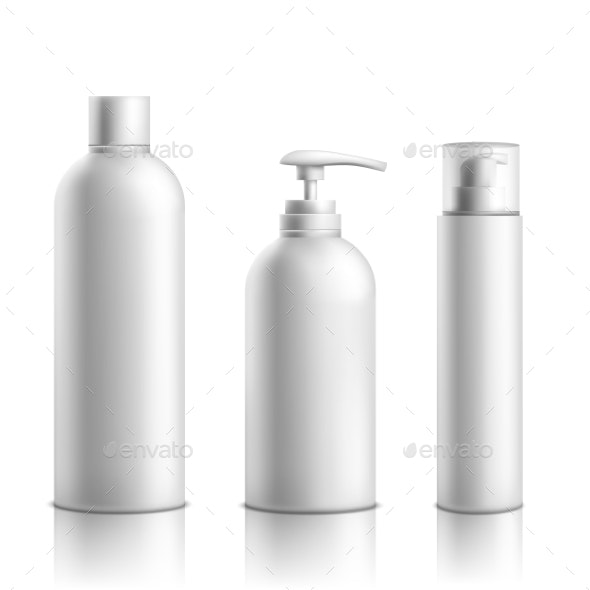 Cosmetics Products Packaging Realistic Vector Set - Man-made Objects Objects