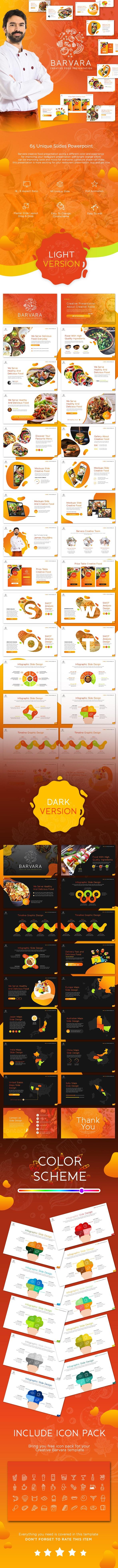 Barvara Food Presentation Template - Creative PowerPoint Templates