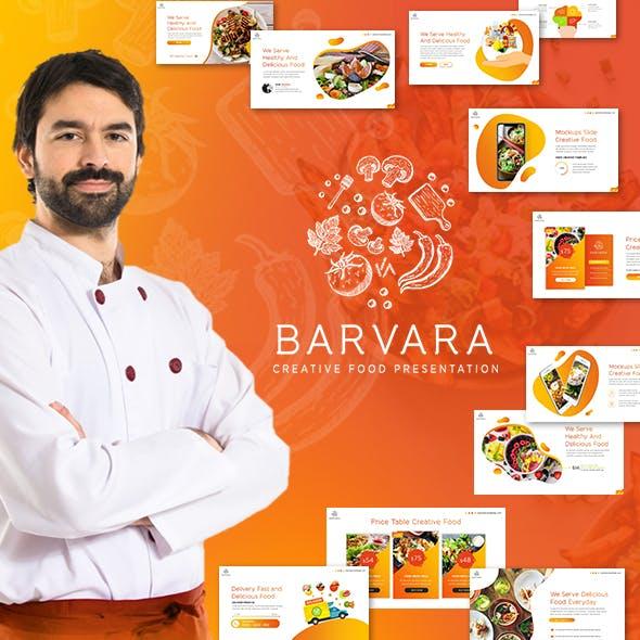 Barvara Food Presentation Template
