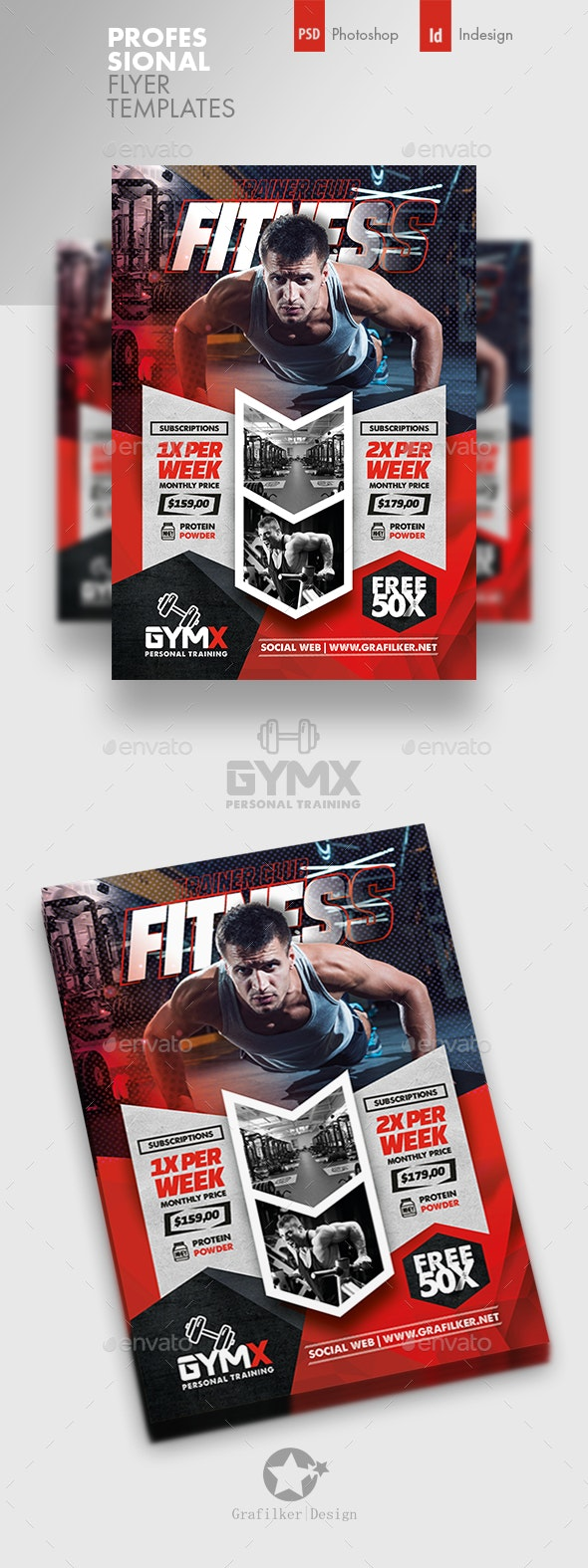 Fitness Trainer Flyer Templates - Corporate Flyers