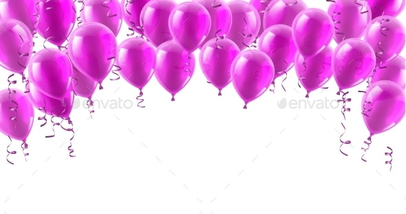 Pink Party Balloons Background - Miscellaneous Vectors