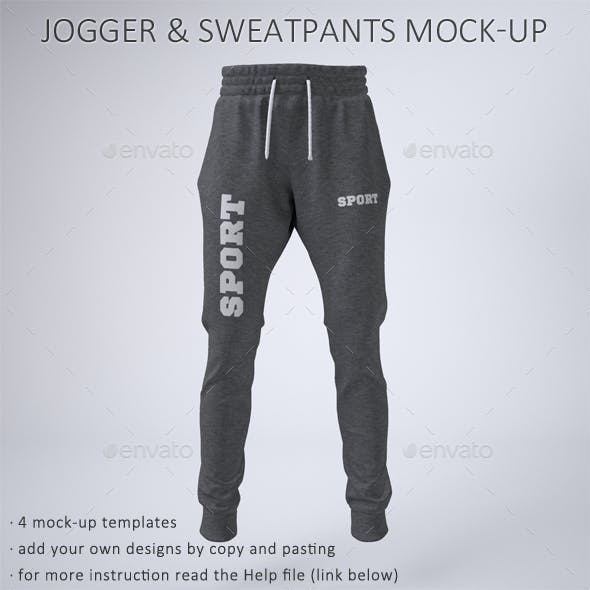 Joggers Pants and Sweatpants Mock-Up