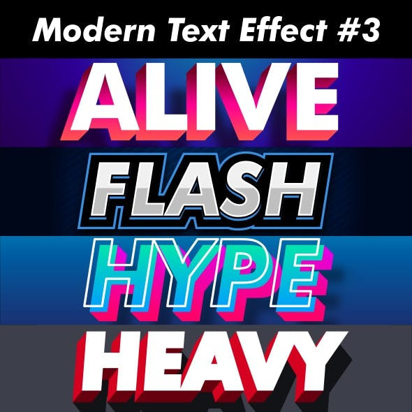 Strong Bold And Trendy Text Effect