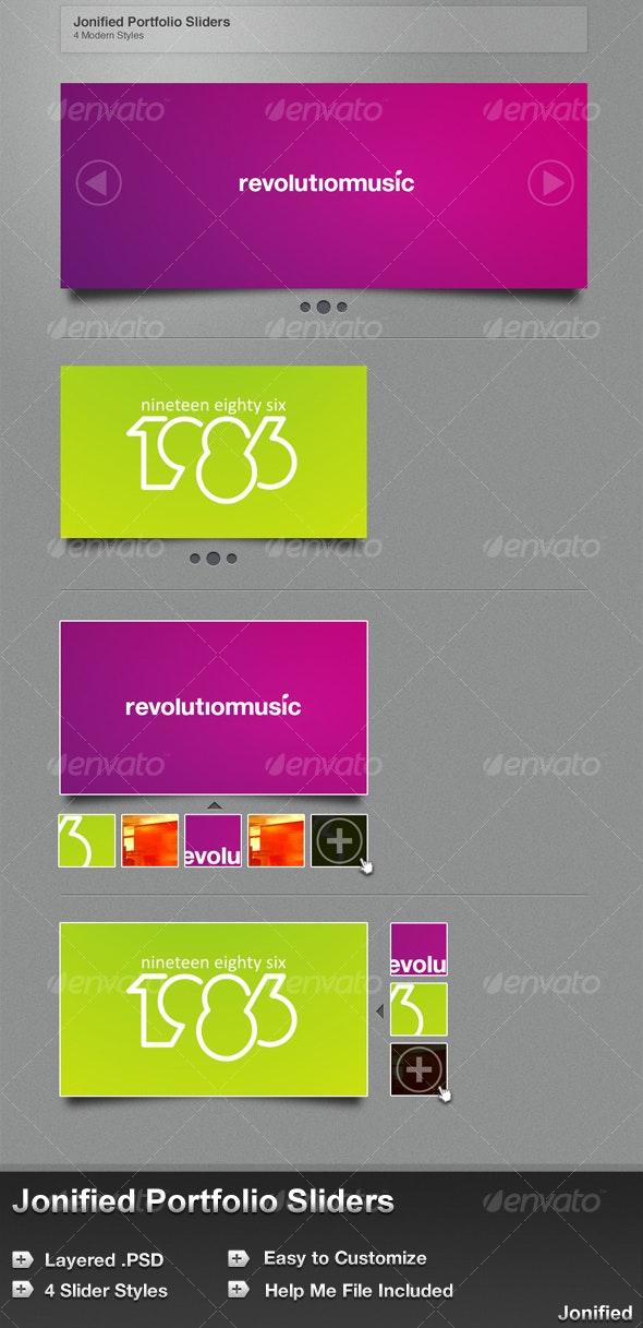 Portfolio Sliders - 4 Modern Styles - Jonified - Web Elements