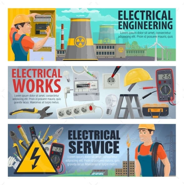 Electrical Engineering, Electricity Work Tools - Industries Business