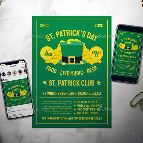 Saint Patrick's Day Flyer Set