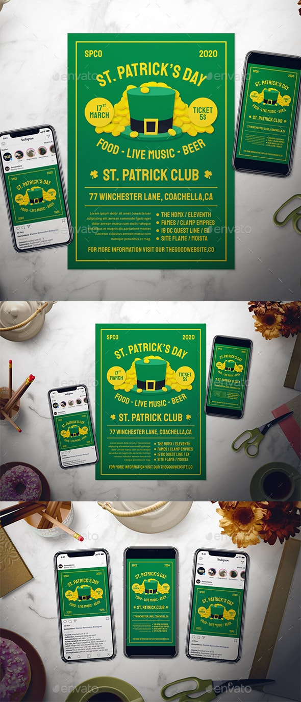 Saint Patrick's Day Flyer Set - Print Templates