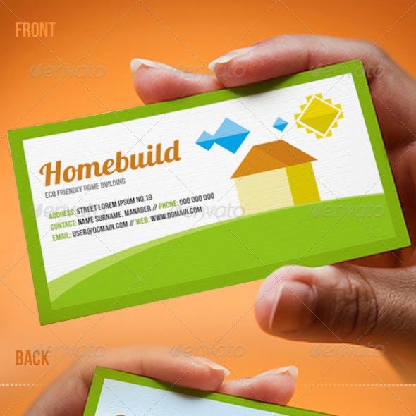 Eco Friendly Homebuild Business Card