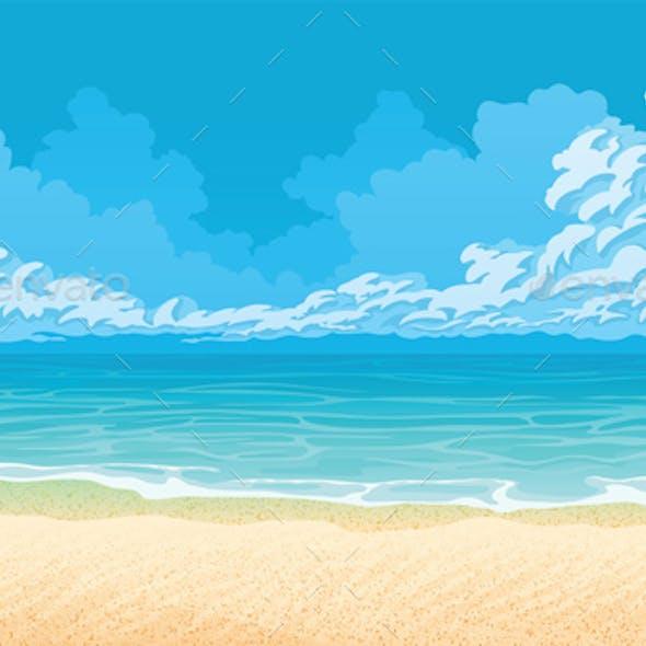 Horizontal Seamless Background with Coast