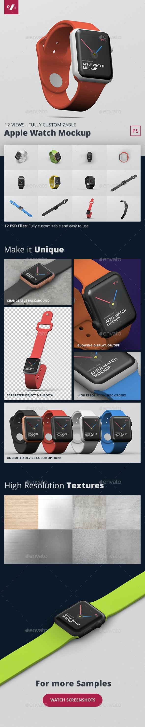 Smart Watch Mockup - Mobile Displays