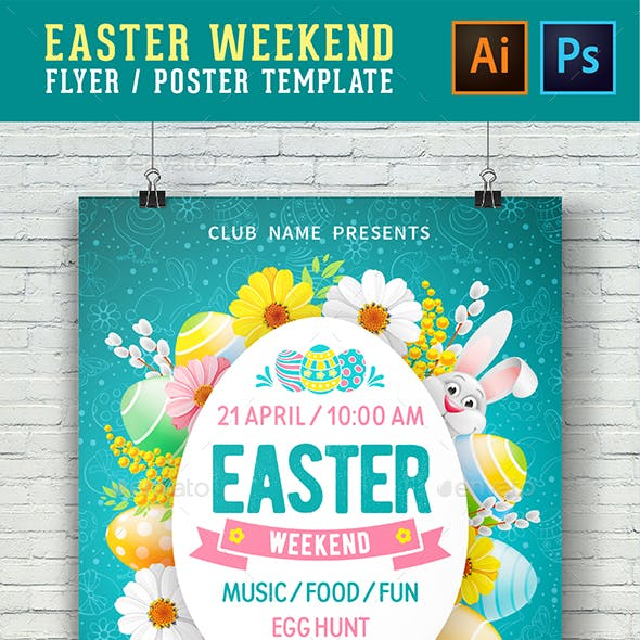 Template For Easter Weekend Flyer