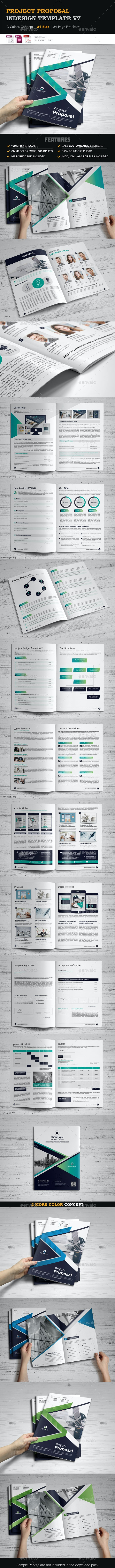 Project Proposal InDesign Template v7 - Proposals & Invoices Stationery