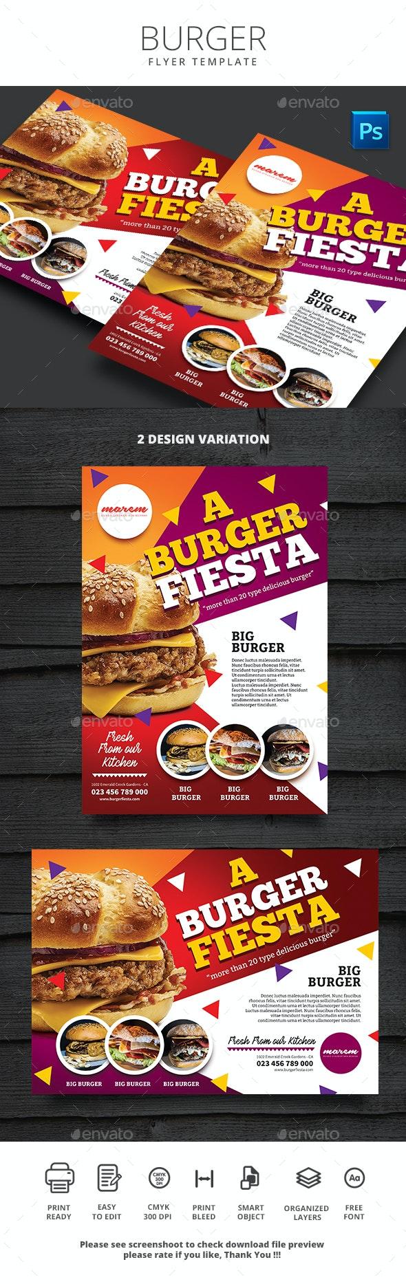 Burger Menu - Food Menus Print Templates