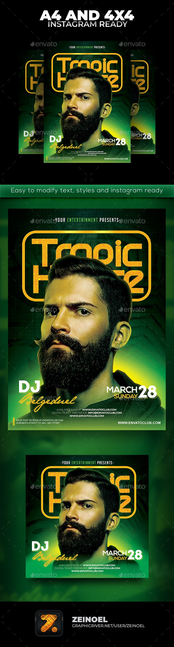 Tropical House Flyer - Clubs & Parties Events