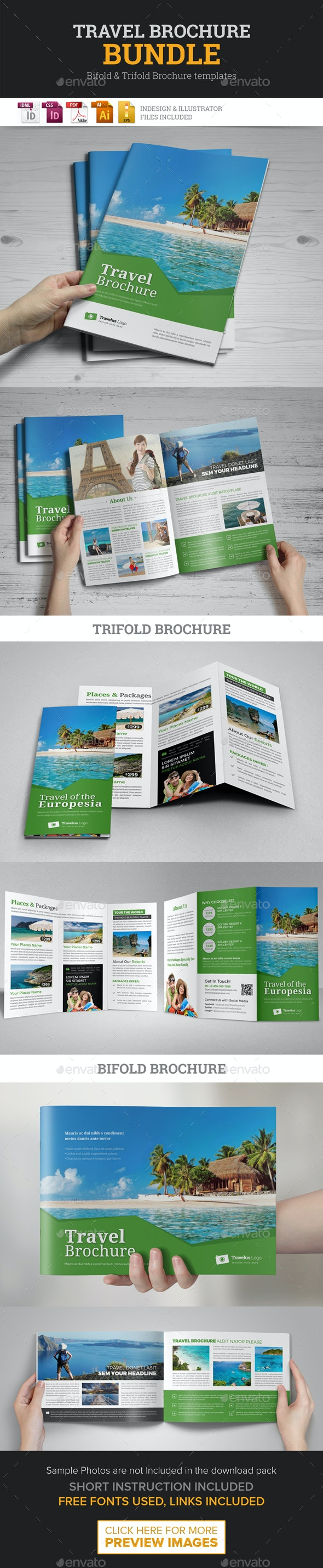 Travel Agency Brochure Bundle - Corporate Brochures