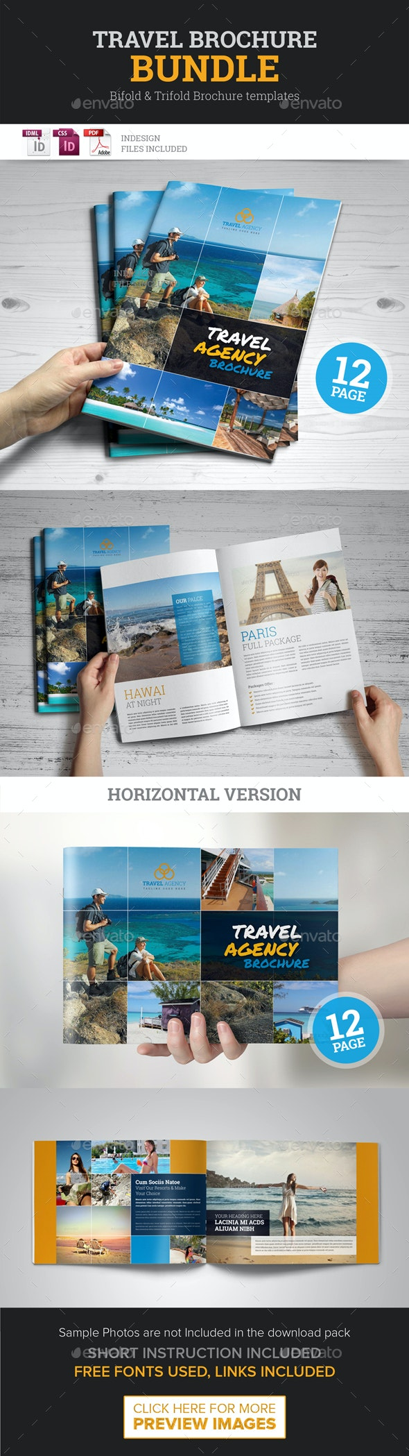 Travel Agency Brochure Bundle 2 in 1 - Corporate Brochures