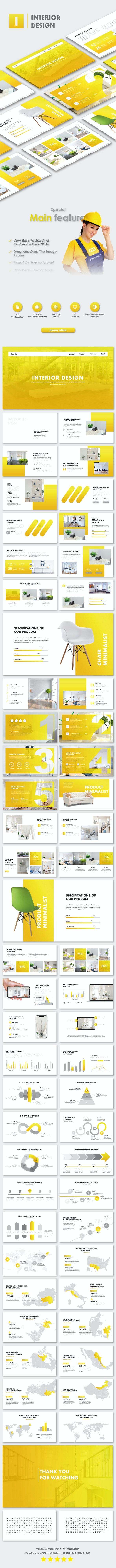 Interior Design Google Slide Templates - Google Slides Presentation Templates