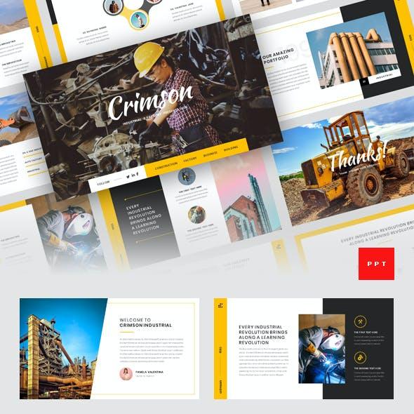 Crimson - Industrial & Factory PowerPoint Template