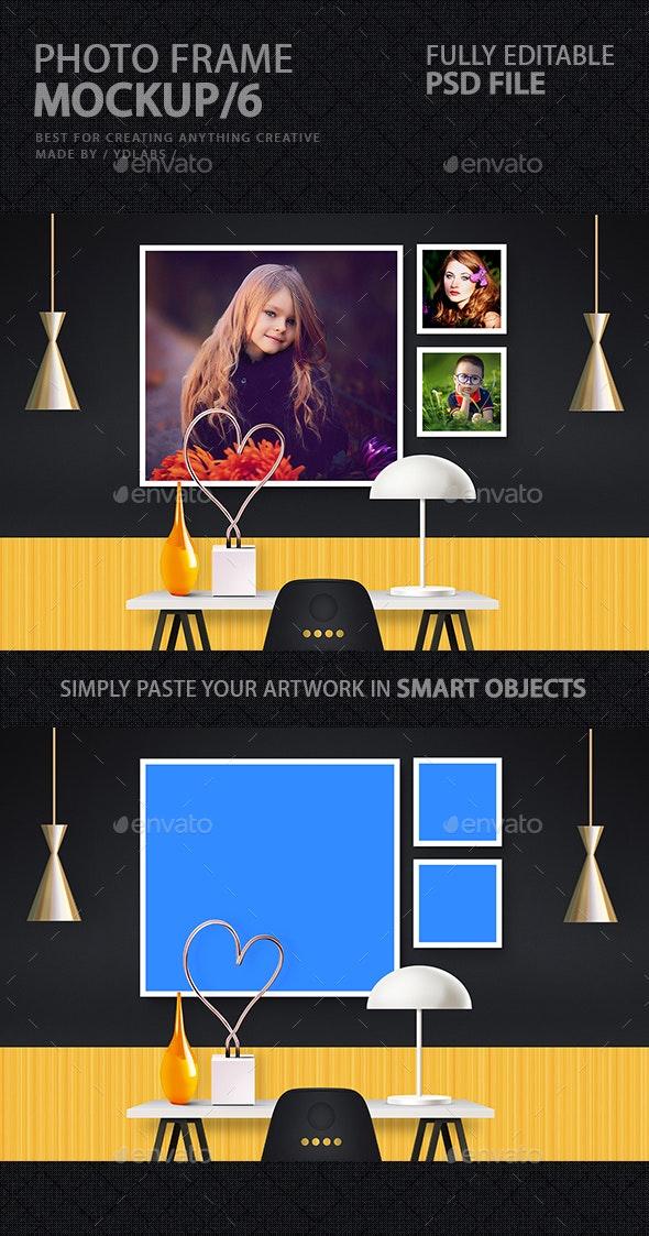 Photo Frame Mockup 6 - Product Mock-Ups Graphics
