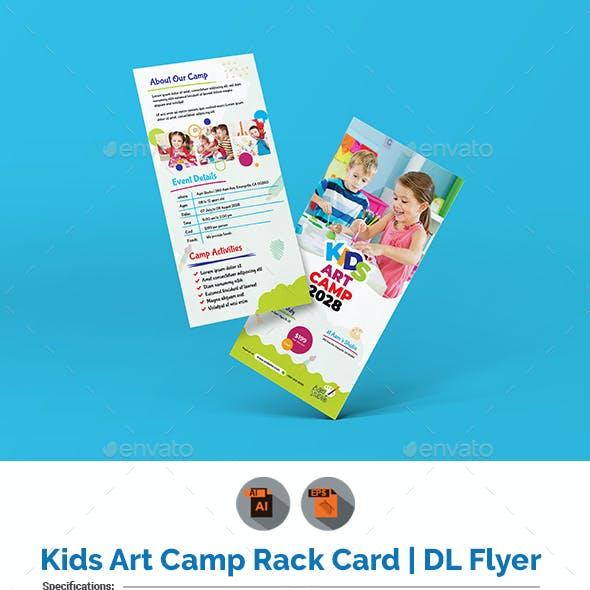 Kids Art Camp Rack Card | DL Flyer