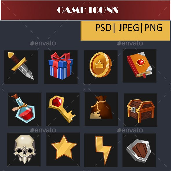 Common Game Icons