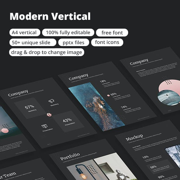 Modern Vertical - Google Slide