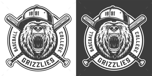 Baseball Label - Sports/Activity Conceptual
