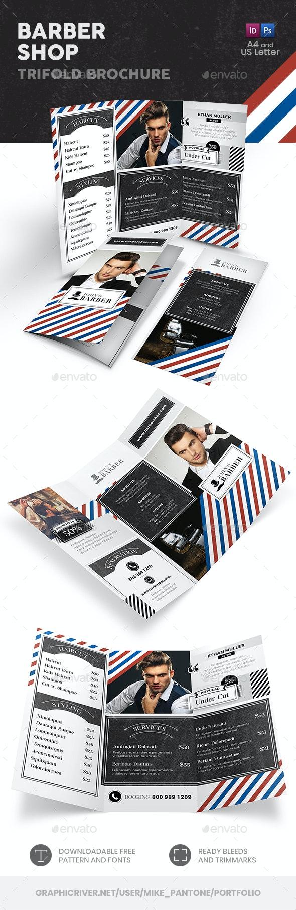 Barber Shop Trifold Brochure - Informational Brochures