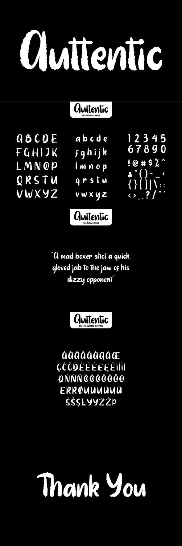 Auttentic - Handwriting Fonts