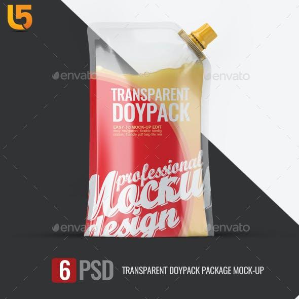 Transparent Doypack Package Mock-Up