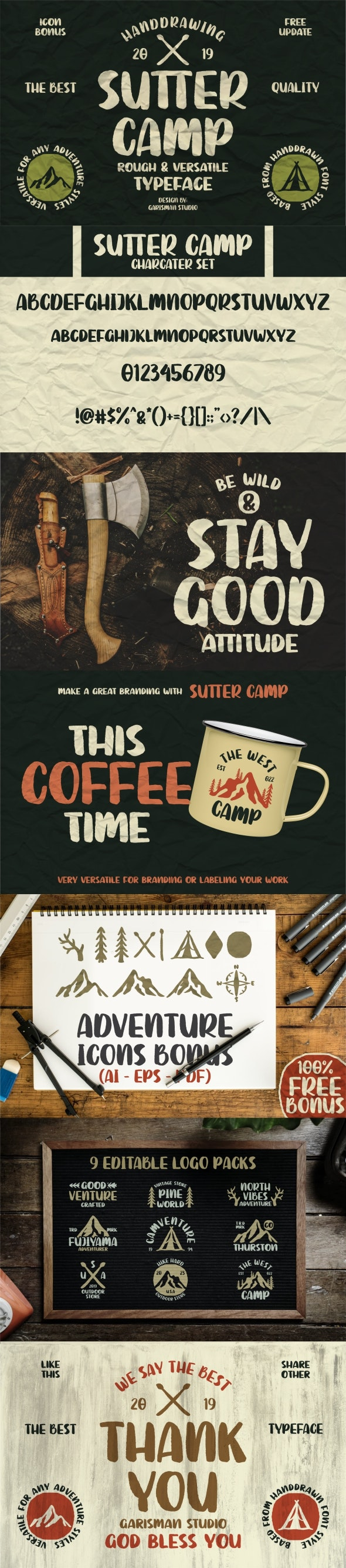 Sutter Camp - Handwriting Fonts
