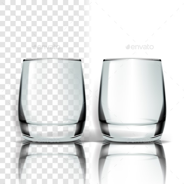 Transparent Glass Vector - Food Objects