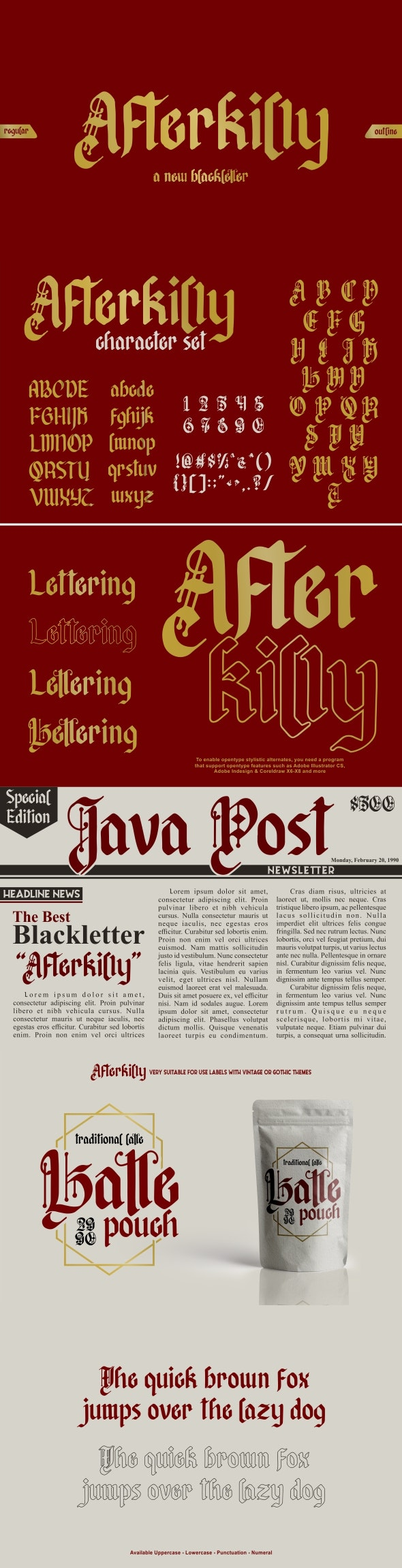 Afterkilly Blackletter - Gothic Decorative