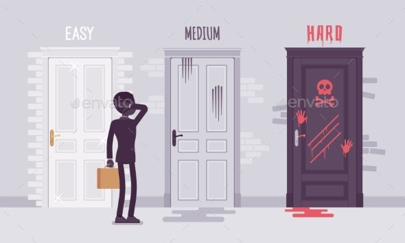 Easy Medium or Hard Degree of Difficulty - Miscellaneous Conceptual