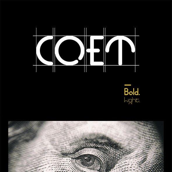 COET Family Font - Unique Style Sans Serif