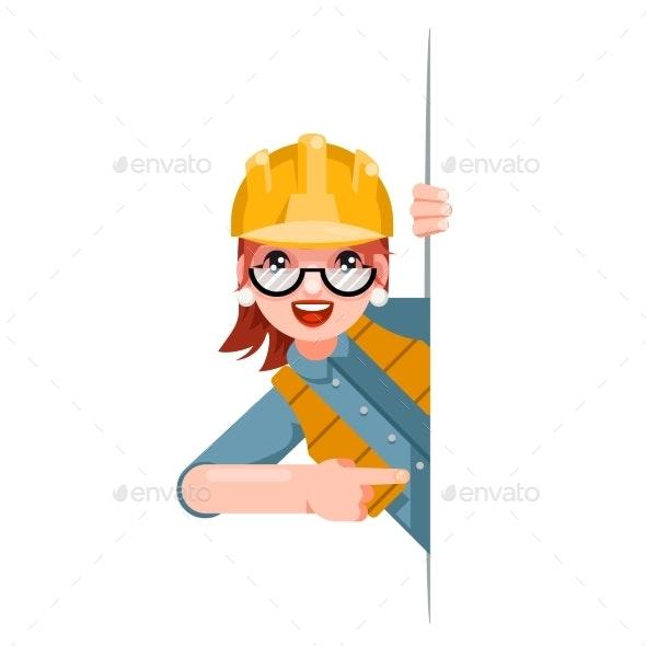 Foreman Woman Worker Builder Engineer - People Characters