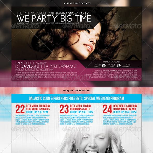 Party Flyers Bundle 3in1 #6