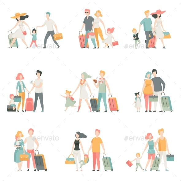 Family Travel Set - Travel Conceptual