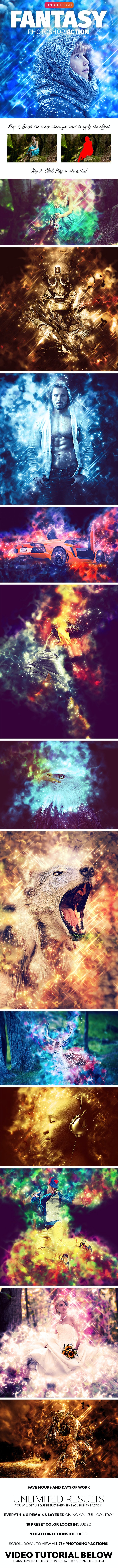 Fantasy Photoshop Action - Photo Effects Actions