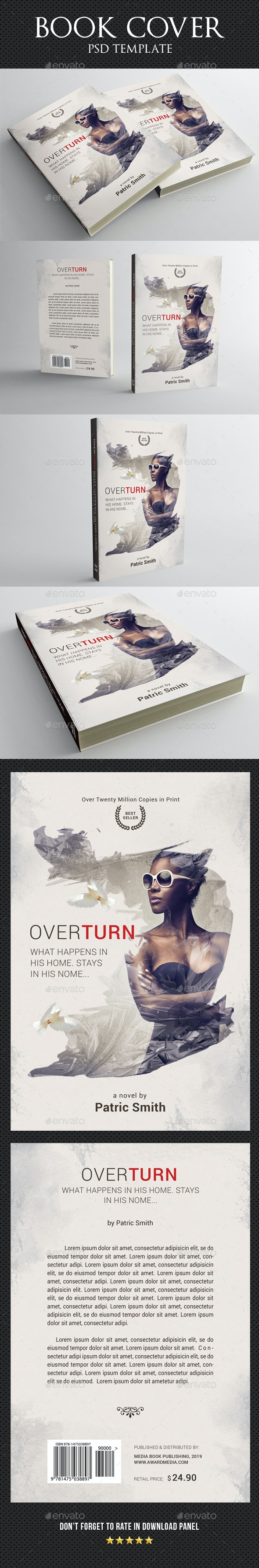 Book Cover Template 61 - Miscellaneous Print Templates